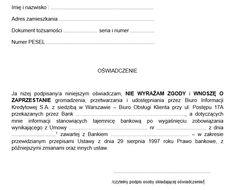 Samodzielne czyszczenie BIK - wzór pisma na odwołanie zgody