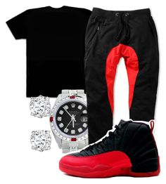 """""""Lil Mouse- Kill Time"""" by young-rich-nvgga ❤ liked on Polyvore featuring October's Very Own, Asprey, Rolex, American Stitch, men's fashion and menswear"""