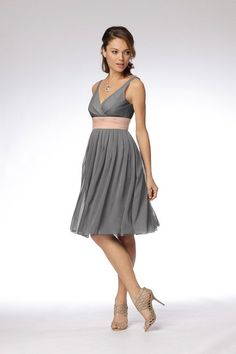 Bridesmaid dress inspiration. instead of the tan band, it'll be a robins egg blue color.