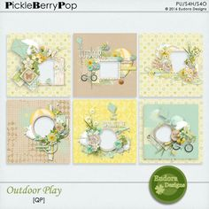 """This pack includes: 4 QP. <br />Created with """"Outdoor Play"""" kit. <br /> <br />Information about this product: All papers are saved 3600x3600 png 300DPI. <br />File type: Downloadable, file .zip <br />TOU: This product is reserved for a personal use. Think of consulting the TOU."""