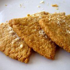 Irish Oatcakes -6 oz oats 2 oz flour 1 teaspoon of salt 10 fl oz of warm water  (I MAKE MINE WITH ALL OATMEAL BY GRINDING A BIT OF THE OATS INSTEAD)