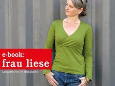 FrauLIESE+Shirt+mit+Wickeloptik,+ebook+von+schnittreif+auf+DaWanda.com