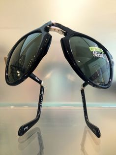 ab5b6a66f9b9 The classic foldable Steve McQueen Persol sunglass will forever be cool.