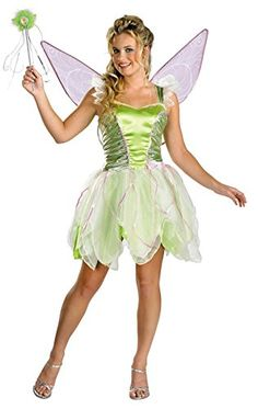 UHC Womens Tinker Bell Deluxe Disney Fairy Fancy Halloween Costume One Size 1214 ** Find out more about the great product at the image link-affiliate link