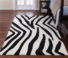 Zebra Themed Rug Carpet for Bedroom