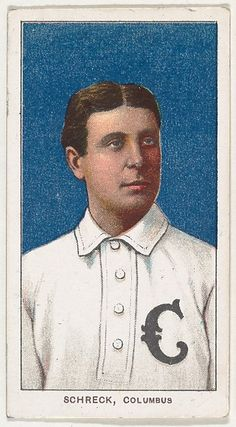 Schreck, Columbus, American Association, from the White Border series (T206) for the American Tobacco Company