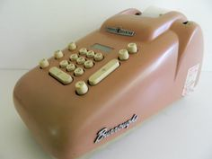Burroughs Ten Key Adding Machine Pink Deco by Rustage on Etsy, $100.00