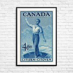 Canada Citizen Stamp Citoyen Canadian Citizen by CanadaStampArt Poster Size Prints, Art Prints, Pigment Ink, Stamp Collecting, Home Decor Wall Art, Postage Stamps, Canada, Etsy Shop, Citizenship