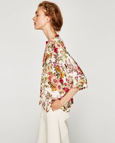 Image 5 of FLOWING FLORAL PRINT BLOUSE from Zara