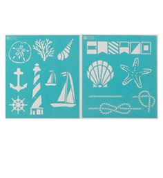 Use old book paper, stamp with stencil, frame and then hang! Martha Stewart Crafts™ Nautical Study Laser-Cut Stencils