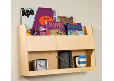 Tidy Books - The Original Bunk Bed Shelves and Bedside Storage for Top Bunk Beds and Cabin Beds. Natural Wood- 33 x 53 x 12 cm Bunk Bed Wall, Bunk Bed Shelf, Bedside Shelf, Bunk Beds With Storage, Wooden Bunk Beds, Bed Shelves, Bedside Storage, Kids Storage, Book Storage