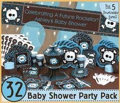 Blue Skull Baby Shower theme