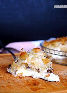 Pastel crujiente de manzana y queso. Receta fácil