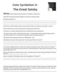 Color imagery in the great gatsby essay