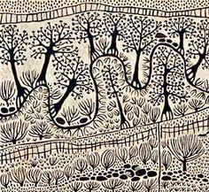 Italian Australian artist Marina Strocchi. Love the aboriginal influence