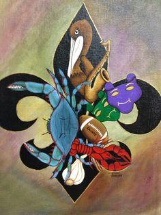 New Orleans Fleur de lis Art By Cindy Garaudy