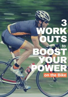 If you're like most cyclists, you want to get faster on the bike. Whether that means setting a new personal record on your next century ride or hanging on the back of the peloton on your weekend group ride, the only way you can push your performance to new levels is to produce more power on the bike. 3 Workouts to Boost Your Power on the Bike http://www.active.com/cycling/articles/3-workouts-to-boost-your-power-on-the-bike?cmp=-17N-60-S1-T1-D1-04132015-22