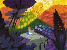 Mary Blair (Alice in Wonderland) amazing composition