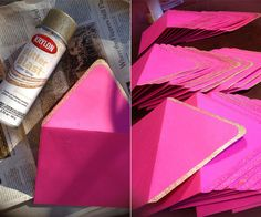 DIY // How to add gold tips to envelopes |