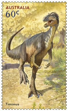 The Timimus is prehistoric animal from the Early Cretaceous of Australia as shown on our new #stamps.