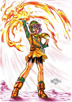 Another Akira Toriyama designed character! This time is Lucca, genius girl from the excellent and timeless ;D Chrono Trigger game, summoning her f. Super Nintendo, Video Game Art, Video Games, Square Enix Games, Chrono Cross, Chrono Trigger, Master Sword, The Legend Of Heroes, Devian Art