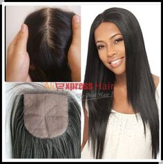 Peruvian Silk Base Closure 4*4 Best Quality Cheap Middle Part/Free Part/Three Part Natural Color Silk Base Top Closure | Price: US $74.80 | http://www.bestali.com/goto/1774760614/10