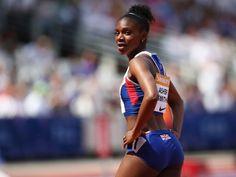 Dina Asher-Smith Dina Asher Smith, Women Athletes, Track And Field, Athletic Women, Athletics, Bikinis, Swimwear, Black Women, Running
