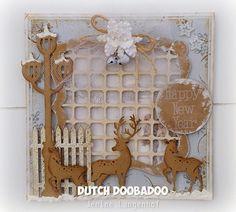 Jenine's Card Ideas: Tutorial doorkijkkaartje Reindeers