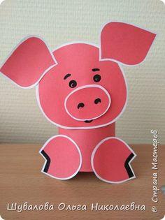 Новогодние игрушки... Pig Crafts, Farm Crafts, Diy And Crafts, Arts And Crafts, Paper Crafts, Animal Crafts For Kids, Art For Kids, Caterpillar Craft, Chinese Theme