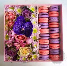 Набор №15 цветы + макаруны