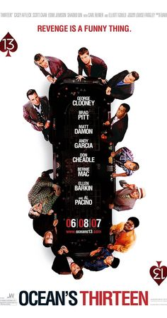 Directed by Steven Soderbergh.  With George Clooney, Brad Pitt, Matt Damon, Michael Mantell. Danny Ocean rounds up the boys for a third heist, after casino owner Willy Bank double-crosses one of the original eleven, Reuben Tishkoff.