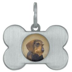 #Dachshund (Wirehaired) Pet Tag - #pettag #pettags #dogtag #dogtags #puppy #dog #dogs #pet #pets #cute #doggie