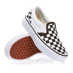 Vans Classic Slip-On Boys Shoes - Checkerboard Black/True White