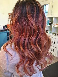 rose gold color melt dark hair - Google Search