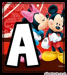 Planet Cute - Alphabet - Mickey and Minnie - Image
