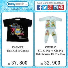Calmet creative t-shirt and Costly baby pajamas  SNI approved  Only at www.babylonish.com