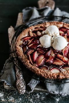 A sweet plum galette that might just change your life. Anisa Sabet | The Macadames | Food Styling | Food Photography | Props | Moody | Food Blogger | Recipes