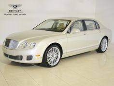 2013 Bentley Continental Flying Spur $200,500 - in white of course, and with a gorgeous driver.