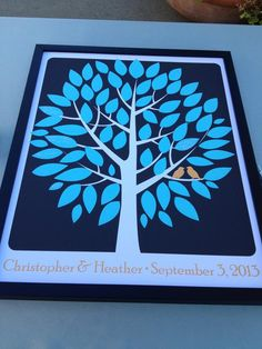 Unique wedding guestbook idea. have your guests sign the tree so you can keep this in the house post wedding! Image created with #eversnap