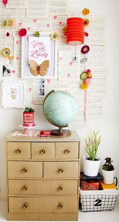 art as life: Inspire Lovely Studio Tour (creative, crafting space! Interior Inspiration, Room Inspiration, Moodboard Inspiration, Room Decor, Wall Decor, Kid Spaces, Home Interior, Interior Design, Decoration