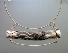 felt and metal necklace