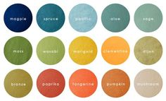 COLOR PALETTES. I love to mix and match colors and see how they play off of each other. Creating color palettes was a big part of my job as creative director.