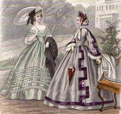 1862 Promenade dresses, fashion plate