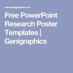 Research Poster PowerPoint Template Free | PowerPoint ...