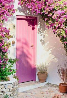 #pink door