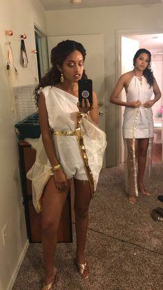 Toga Party DIY Greek Goddess Halloween ABC