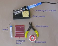 This guide will teach you how to solder electronic components.
