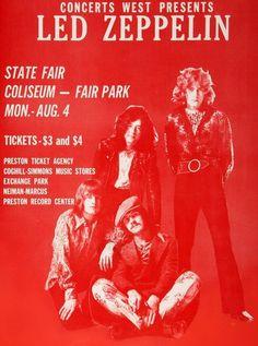 Led Zeppelin - Concert poster