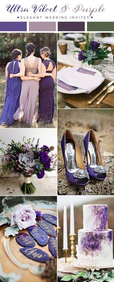 ultra violet and purple wedding color trend for 2018