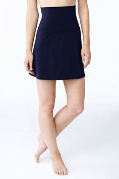 Women's Beach Living Ultra High Waist SwimMini Swimsuit Skirt with Tummy Control from Lands' End